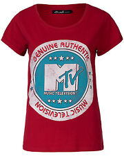 "BLEND SHE SHIRT ""MTV""-PRINT MUSIC FESTIVAL ROT M 38 NEU mit ETIKETT !!! TOP !!!"