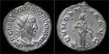 Trajan Decius AR antoninianus Abundantia standing right