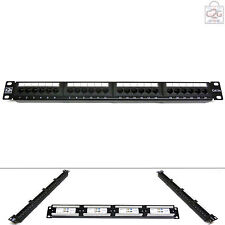 "Cat5E 24 Port Way GIGABIT RJ45 Patch Panel 19"" UTP Ethernet Network Data Rack"