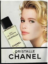 Publicité Advertising 1990 Eau de Toilette Cristalle Chanel  Claudia Schiffer