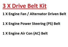 Pajero/Shogun 3.0Petrol V6 12V Engine Fan/Alternator+PS+AC Drive Belts 1991-1994