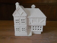 C-0257 Ceramic Bisque Ready to Paint Christmas Village SCROOGE & MARLEY Shop