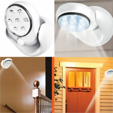 MOTION ACTIVATED CORDLESS SENSOR 7 LED SWIVEL LIGHT OUTDOOR GARDEN PATIO WALL