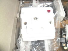 Legrand mosaic 741 23 2p 15a switched socket + neon 1 gang bs