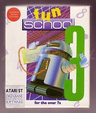 Fun School 3 (Database) Atari ST Educational Medium Boxed Complete VGC (BB-267)