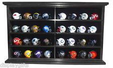 Pocket Pro Gumball Football Mini Helmet Display Case Stand Wall Cabinet, MH07-BL