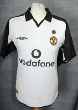 VINTAGE MANCHESTER UNITED CENTENARY AWAY FOOTBALL SHIRT 01-02 UMBRO MENS MEDIUM