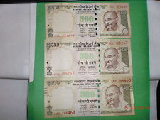 - INDIA PAPER MONEY- 3  'MG' NOTES-RS. 500/- YR. '2015'- ONE SIGN.-3 DESIGNS# EC