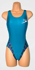 Speedo Ladies Coolmax Trisuit Swimsuit Triathlon UK Small (6-8) Green Teal 6747
