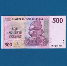 ZIMBABWE 500 Dollars 2007 REPLACEMENT ZA  UNC P. 70