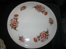 AYNSLEY STAFFORDSHIRE ENGLAND CAKE PLATE FLORAL GOLD TRIM