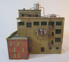 HO Scale Factory Building w/attached housing - weathered - plastic