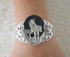 Unicorn Cuff Bracelet, victorian renaissance fantasy fairytale elven magic fairy
