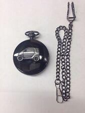 Smart Car ref240 Pewter Effect polished black case mens pocket watch