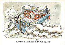 BF37361 comic enjoying our views of the coast  pleasure tripe  Boat Ship Bateaux