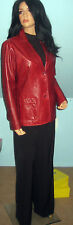 Gap Jeans~Red~Camberry~Leather~Jacket~Blazer~Size Lrge~Excllent Condition~Color