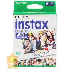 NEW BOXEDFUJI INSTAX WHITE WIDE FILM 1 PACK (10PCS) 210 200 300 Camera USA
