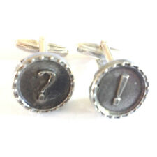 CUFFLINKS Pewter Symbols ! and ? Computer Party Christmas Present GIFT Box
