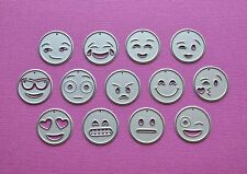 Die cutting - matrice de coupe - emojis - smileys - 13 pieces - émoticônes