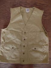 VTG Filson USA Khaki Cotton Hunting Vest Mens SZ 36 Game Bag Shooting Nature