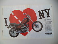 advertising Pubblicità 1989 MOTO MORINI NEW YORK NEWYORK