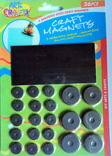 26 PCS ASSORTED SIZES CRAFT MAGNETS,GREAT FOR ALL DIY CRAFT PROJECTS,