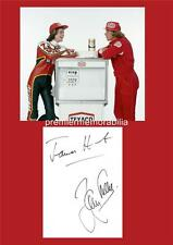 MOTOR RACING GREATS JAMES HUNT & BARRY SHEENE SIGNED (PRINTED) EXCLUSIVE PRINT