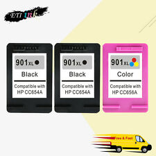 3PK 901 XL Ink For HP 901XL Officejet 4500 G510 J4500 J4550 J4580 J4624 J4680