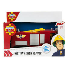 Fireman Sam Friction action Jupiter Fire Engine Truck + grande figurine Sam jouet neuf