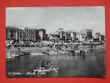 CATTOLICA alberghi a mare pattino a remi Rimini vecchia cartolina