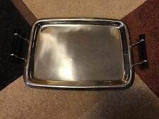"""Stainless Steel Handled Serving Tray-Wazir Chand & Co. Pvt Ltd.17"""" x 13"""" India"""