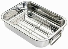 Essential Stainless Steel Roasting Pan/Removable Tray/Grill