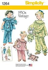 SIMPLICITY SEWING PATTERN Vintage Pajamas and Stuffed Bunny IN PAJAMAS 3-8 1264