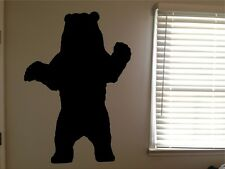 Bear Grizzly Black Brown Forest Animal Vinyl Wall Art Removable Decal Sticker