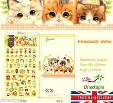 Furry Animals Cat Design Cartoon Kawaii Diary Album Decor Stickers Scrapbook