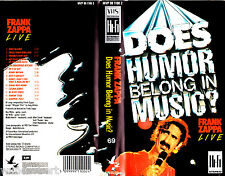 """VHS - """" Frank ZAPPA Live - Does Humor Belong in Music ? """" (1985)"""