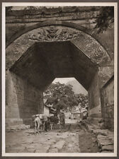 1920's CHINA GRAVURE PAGEANT OF PEKING DONALD MENNIE - GATE AT CHU YUNG KUAN
