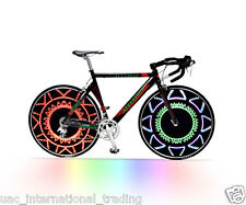 Bike Wheel Colourful message LED Light Bicycle Spoke Cycling Pattern Neon Light
