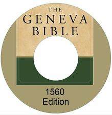 New 1560 Geneva Bible CD PDF Vintage Ebook--Kindle-iPhone-iPod-Droid Compatible