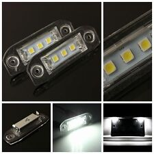 2x CAN-bus SMD LED White License Plate Light For Volvo S80 S60 C70 V70 C30 S40