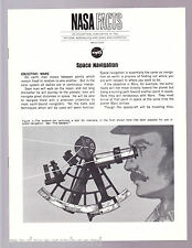 NASA American in Space 1968 FACT SHEET NF-37 SPACE NAVIGATION Equipment Tools