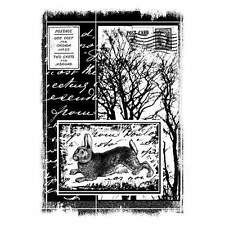 Crafty Individuals HARE AMONGST THE TREES Unmounted Red Rubber Stamps