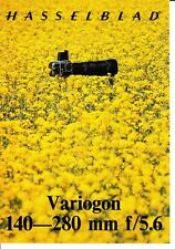 Hasselblad Variogon 140-280 mm f/5.6 Lens Sales Brochure 1976