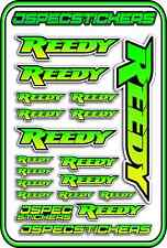 RC STICKERS REEDY 1/10 1/8 1/12 DECAL MOTOR BATTERY ESC CAR BUGGY GREEN YELLOW B