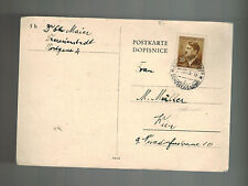 1943 Germany Theresienstadt Concentration Camp package PC Cover Otto Maier KZ 2