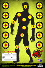 ZOMBIE SNIPER RANGE TRAINING PAPER TARGETS: SURVIVAL SERIES 101: 15 PACK