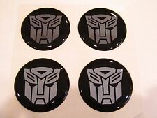Transformers Autobots Style wheel center cap hub cap center decal 43mm set of 4