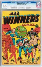 All Winners Comics #1 CGC 6.5 Timely 1941 Captain America Sub-mariner E9 107 cm