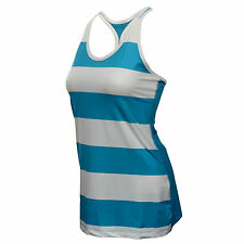 New Nike Top  Size L (UK 16-18) Women's Legend Balance Tank/ Stripe Blue White