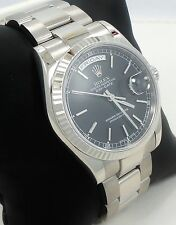 Rolex President Day-Date 118239 18K White Gold Box & Papers *Mint Condition*